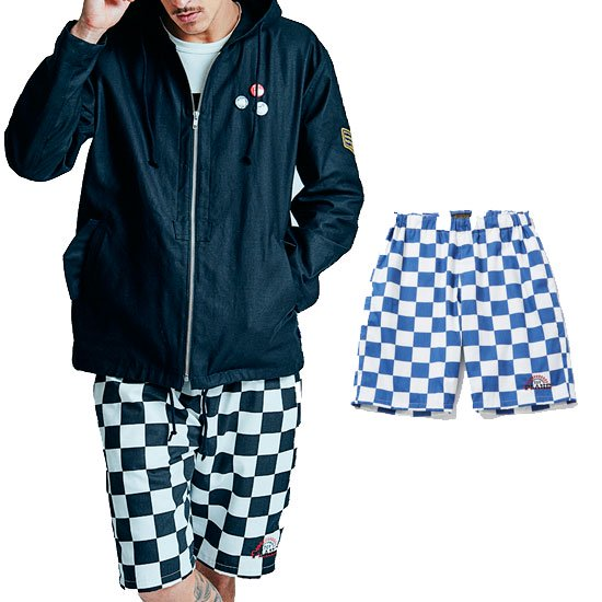 <img class='new_mark_img1' src='https://img.shop-pro.jp/img/new/icons12.gif' style='border:none;display:inline;margin:0px;padding:0px;width:auto;' />TOYPLANE CHECKER FLAG SHORTS