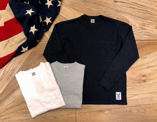 standard california sd made in usa heavyweight pocket long sleeve t