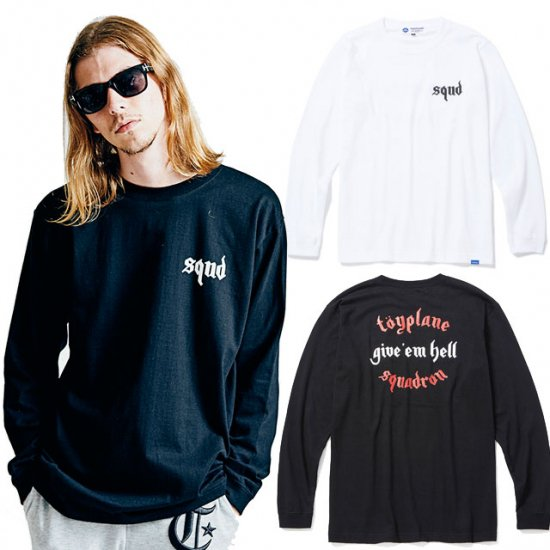 <img class='new_mark_img1' src='https://img.shop-pro.jp/img/new/icons16.gif' style='border:none;display:inline;margin:0px;padding:0px;width:auto;' />TOYPLANE L/S SQUAD TEE