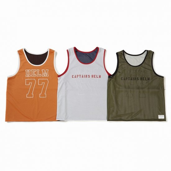 <img class='new_mark_img1' src='//img.shop-pro.jp/img/new/icons12.gif' style='border:none;display:inline;margin:0px;padding:0px;width:auto;' />CAPTAINS HELM  #REVERSIBLE MESH TANK TOP