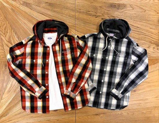 <img class='new_mark_img1' src='//img.shop-pro.jp/img/new/icons50.gif' style='border:none;display:inline;margin:0px;padding:0px;width:auto;' />STANDARD CALIFORNIA SD Heavy Flannel Check Hood Shirt