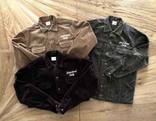<img class='new_mark_img1' src='https://img.shop-pro.jp/img/new/icons50.gif' style='border:none;display:inline;margin:0px;padding:0px;width:auto;' />STANDARD CALIFORNIA SD Stretch Corduroy Shirt