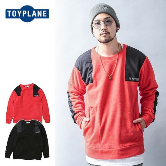 <img class='new_mark_img1' src='//img.shop-pro.jp/img/new/icons50.gif' style='border:none;display:inline;margin:0px;padding:0px;width:auto;' />TOYPLANE FLEACE CREW NECK JACKET