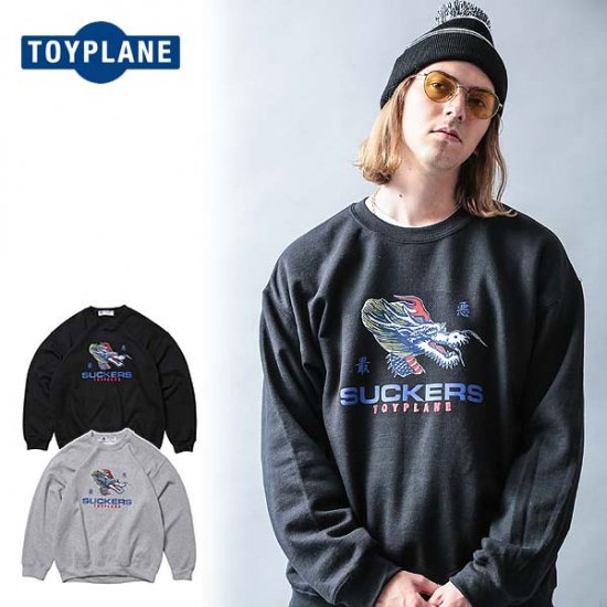 <img class='new_mark_img1' src='//img.shop-pro.jp/img/new/icons12.gif' style='border:none;display:inline;margin:0px;padding:0px;width:auto;' />TOYPLANE DRAGON CREW NECK SWEAT