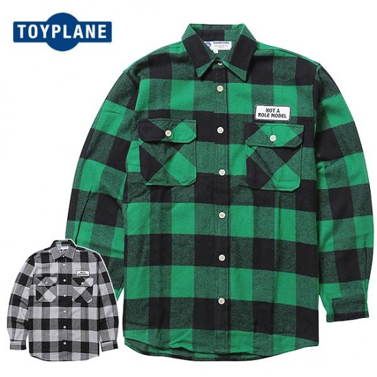 <img class='new_mark_img1' src='//img.shop-pro.jp/img/new/icons12.gif' style='border:none;display:inline;margin:0px;padding:0px;width:auto;' />TOYPLANE  L/S BIG HVY FLANNEL SHIRT