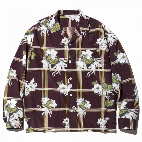 <img class='new_mark_img1' src='https://img.shop-pro.jp/img/new/icons16.gif' style='border:none;display:inline;margin:0px;padding:0px;width:auto;' />CALEE Flower check mix pattern L/S shirt