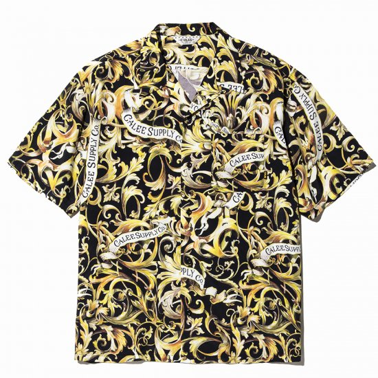 <img class='new_mark_img1' src='https://img.shop-pro.jp/img/new/icons50.gif' style='border:none;display:inline;margin:0px;padding:0px;width:auto;' />CALEE Allover leaf pattern S/S shirt