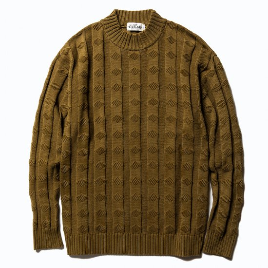 <img class='new_mark_img1' src='https://img.shop-pro.jp/img/new/icons16.gif' style='border:none;display:inline;margin:0px;padding:0px;width:auto;' />CALEE Mock neck jacquard knit sweater