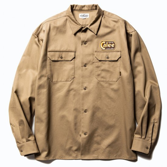 <img class='new_mark_img1' src='https://img.shop-pro.jp/img/new/icons50.gif' style='border:none;display:inline;margin:0px;padding:0px;width:auto;' />CALEE Cotton twill L/S wappen work shirt