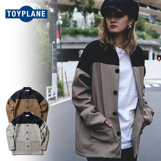 <img class='new_mark_img1' src='https://img.shop-pro.jp/img/new/icons12.gif' style='border:none;display:inline;margin:0px;padding:0px;width:auto;' />TOYPLANE  GUN CLUB SHIRT JACKET