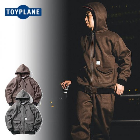<img class='new_mark_img1' src='https://img.shop-pro.jp/img/new/icons12.gif' style='border:none;display:inline;margin:0px;padding:0px;width:auto;' />TOYPLANE  MILITA ZIP UP HOODY