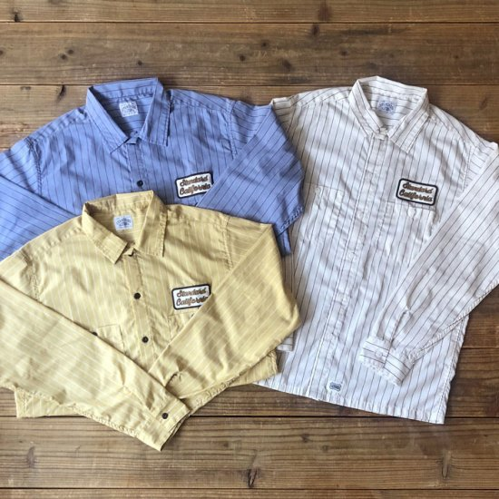 <img class='new_mark_img1' src='https://img.shop-pro.jp/img/new/icons12.gif' style='border:none;display:inline;margin:0px;padding:0px;width:auto;' />STANDARD CALIFORNIA SD T/C Stripe Work Shirt Long Sleeve