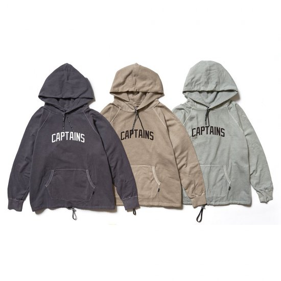 <img class='new_mark_img1' src='https://img.shop-pro.jp/img/new/icons12.gif' style='border:none;display:inline;margin:0px;padding:0px;width:auto;' />CAPTAINS HELM #TM LOGO PIGMENT HOODIE