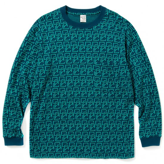 <img class='new_mark_img1' src='https://img.shop-pro.jp/img/new/icons12.gif' style='border:none;display:inline;margin:0px;padding:0px;width:auto;' />CALEE Allover monogram pattern drop shoulder L/S t-shirt