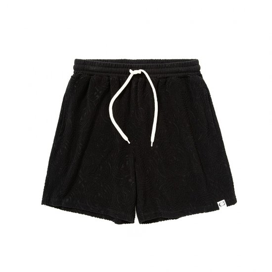 <img class='new_mark_img1' src='https://img.shop-pro.jp/img/new/icons12.gif' style='border:none;display:inline;margin:0px;padding:0px;width:auto;' />CALEE Spiral pattern pile jacquard short pants