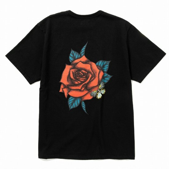<img class='new_mark_img1' src='https://img.shop-pro.jp/img/new/icons12.gif' style='border:none;display:inline;margin:0px;padding:0px;width:auto;' />CALEE Binder neck rose vintage t-shirt