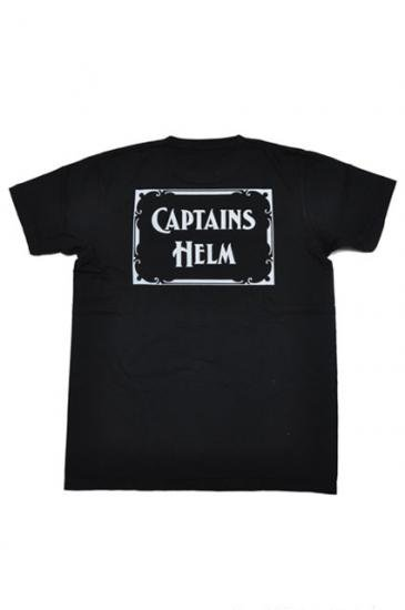 <img class='new_mark_img1' src='https://img.shop-pro.jp/img/new/icons47.gif' style='border:none;display:inline;margin:0px;padding:0px;width:auto;' />CAPTAINS HELM LOGO TEE(BLACK)