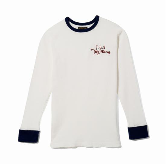 <img class='new_mark_img1' src='//img.shop-pro.jp/img/new/icons50.gif' style='border:none;display:inline;margin:0px;padding:0px;width:auto;' />TOYPLANE FGS EMB THERMAL SHIRT