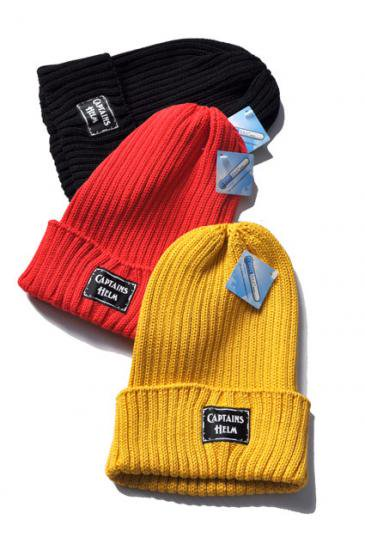 <img class='new_mark_img1' src='https://img.shop-pro.jp/img/new/icons50.gif' style='border:none;display:inline;margin:0px;padding:0px;width:auto;' />CAPTAINS HELM MIX KNIT WATCH CAP SOLID