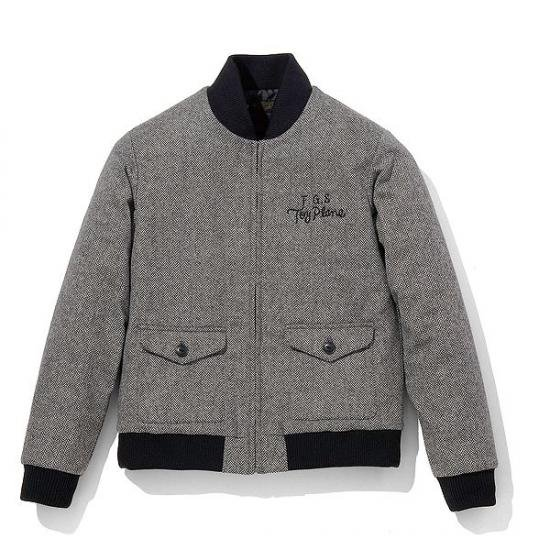 <img class='new_mark_img1' src='https://img.shop-pro.jp/img/new/icons50.gif' style='border:none;display:inline;margin:0px;padding:0px;width:auto;' />TOYPLANE  WOOL HB ZIP JACKET