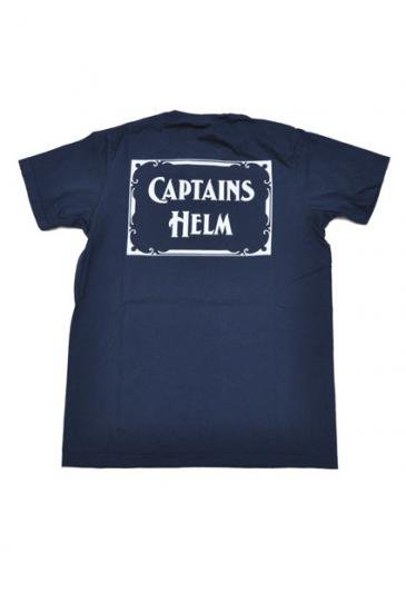 <img class='new_mark_img1' src='//img.shop-pro.jp/img/new/icons50.gif' style='border:none;display:inline;margin:0px;padding:0px;width:auto;' />CAPTAINS HELM LOGO CREW-NECK TEE(NAVY)