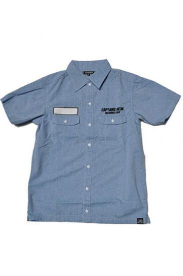 <img class='new_mark_img1' src='https://img.shop-pro.jp/img/new/icons50.gif' style='border:none;display:inline;margin:0px;padding:0px;width:auto;' />CAPTAINS HELM CHT FACTORY SHIRTS(BLUE)