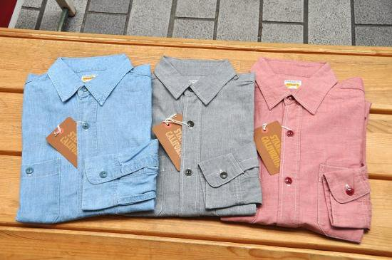 <img class='new_mark_img1' src='//img.shop-pro.jp/img/new/icons50.gif' style='border:none;display:inline;margin:0px;padding:0px;width:auto;' />STANDARD CALIFORNIA SD CHAMBRAY SHIRT-SOLID