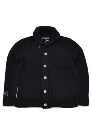 <img class='new_mark_img1' src='https://img.shop-pro.jp/img/new/icons50.gif' style='border:none;display:inline;margin:0px;padding:0px;width:auto;' />CAPTAINS HELM CHT CONCHO KNIT JACKET(BLACK)