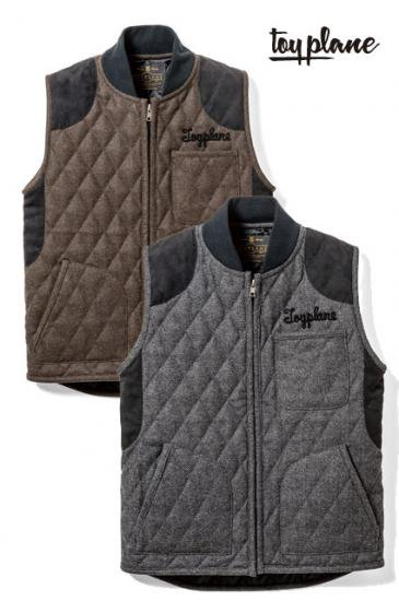 <img class='new_mark_img1' src='https://img.shop-pro.jp/img/new/icons50.gif' style='border:none;display:inline;margin:0px;padding:0px;width:auto;' />TOYPLANE  WOOL QUILTED HUTING VEST