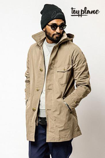 <img class='new_mark_img1' src='https://img.shop-pro.jp/img/new/icons50.gif' style='border:none;display:inline;margin:0px;padding:0px;width:auto;' />TOYPLANE HOODED STAN COAT【送料無料】