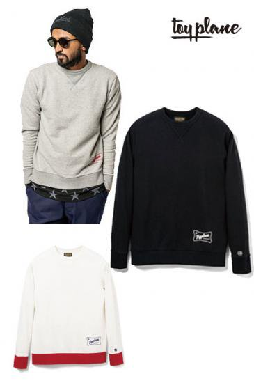 <img class='new_mark_img1' src='https://img.shop-pro.jp/img/new/icons50.gif' style='border:none;display:inline;margin:0px;padding:0px;width:auto;' />TOYPLANE CREW NECK SWEAT