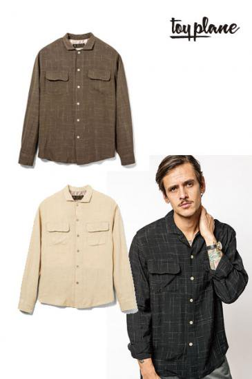 <img class='new_mark_img1' src='https://img.shop-pro.jp/img/new/icons50.gif' style='border:none;display:inline;margin:0px;padding:0px;width:auto;' />TOYPLANE L/S RAYON CHECK OPEN SHIRT