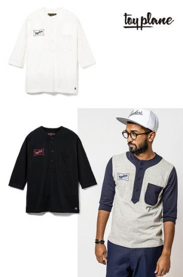 <img class='new_mark_img1' src='https://img.shop-pro.jp/img/new/icons50.gif' style='border:none;display:inline;margin:0px;padding:0px;width:auto;' />TOYPLANE 1/2 SLEEVE BASEBALL TEE【送料無料】