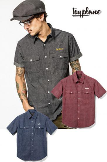 <img class='new_mark_img1' src='https://img.shop-pro.jp/img/new/icons50.gif' style='border:none;display:inline;margin:0px;padding:0px;width:auto;' />TOYPLANE S/S CHECK CHAMBRAY SHIRTS【送料無料】