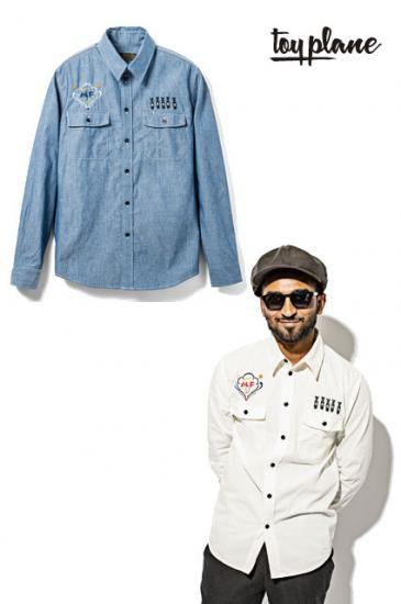 <img class='new_mark_img1' src='https://img.shop-pro.jp/img/new/icons50.gif' style='border:none;display:inline;margin:0px;padding:0px;width:auto;' />TOYPLANE L/S NEEDLEWORK CHAMBRAY SHIRT
