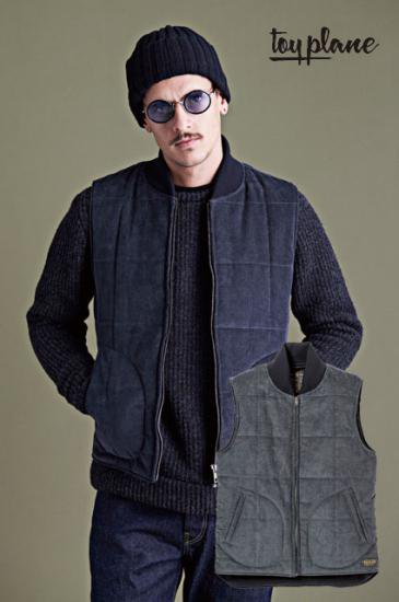 <img class='new_mark_img1' src='https://img.shop-pro.jp/img/new/icons50.gif' style='border:none;display:inline;margin:0px;padding:0px;width:auto;' />TOYPLANE CORDUROY QUILTED VEST