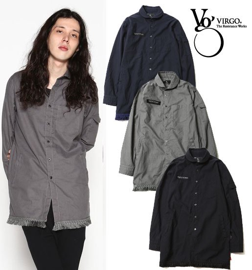 <img class='new_mark_img1' src='//img.shop-pro.jp/img/new/icons50.gif' style='border:none;display:inline;margin:0px;padding:0px;width:auto;' />VIRGO Fringe Mily middle shirts