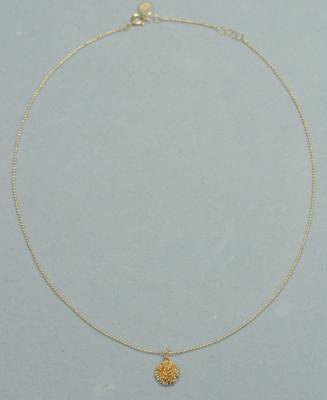 つぶの花 Necklace small gold(brass)