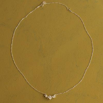 Skimmia Necklace silver