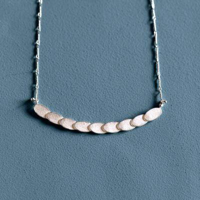 Pattern Necklace silver