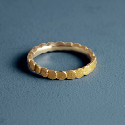 Pattern Ring -maru- bronze