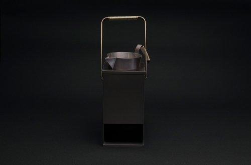 銅の酒燗器(縦型)とチロリセット