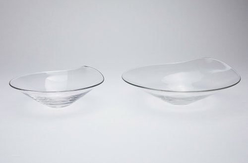 硝子の銘々皿
