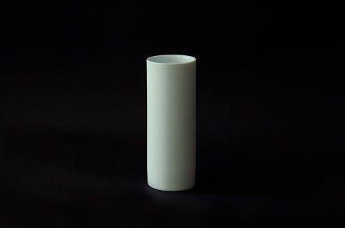 細長湯呑み 白磁