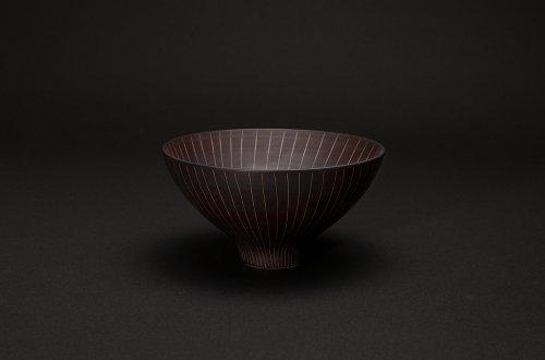磁器の飯碗 茶巻十草