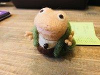 羊毛オブジェ カエル指人形