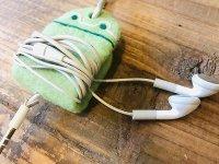 カエルのイヤホンクリップ 黄緑