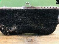 羊毛オブジェ 中にヒキガエルのメガネケース