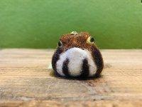 羊毛ストラップ ヒキガエル