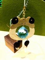 カエルのお口がキラリ木象嵌サンキャッチャー